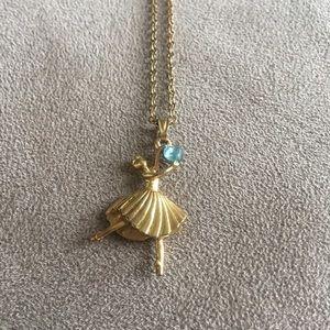 Gold Barbie Ballerina Necklace